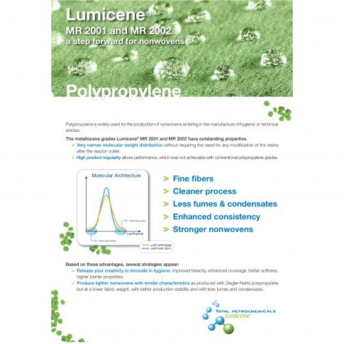 Nonwoven - Vliesstoffe aus metallocen PP von Total herstellen - Bild