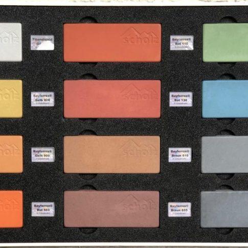 Mustersteine mit Pigment in Grauzement - Bild