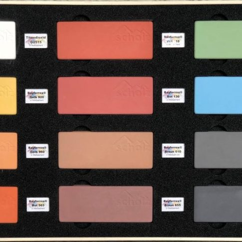 Mustersteine mit Pigmenten in Weißzement - Bild